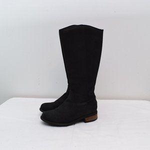 Ugg Seldon 7 Black Leather Riding Boots Zip Womens